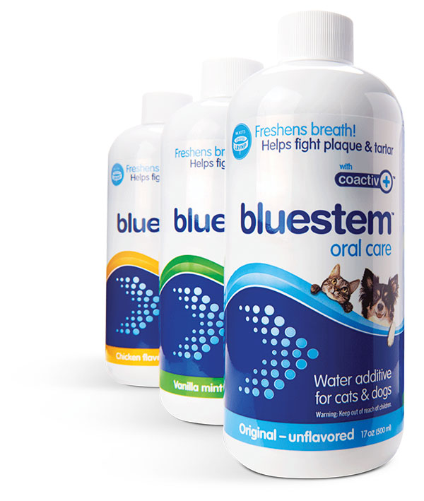 bluestem Water Additive in 3 flavors